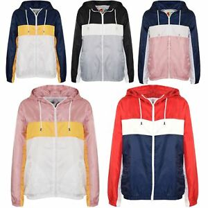 Kids-Boys-Girls-Windbreaker-Contrast-Block-Hooded-Jackets-Rain-Mac-Raincoat-5-13