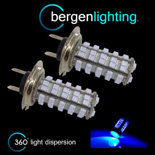 2X H7 BLUE 60 LED FRONT MAIN HIGH BEAM LIGHT BULBS HIGH POWER KIT XENON MB500301