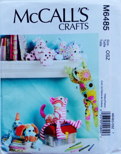 Stuffed Animal U PICK Puppet Sew Pattern ~ Cats Dogs Pigs Cows FAYE WINE UC//FF