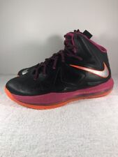 low priced 0c6c1 bd93a item 3 NIKE Lebron X 10 Black Fireberry
