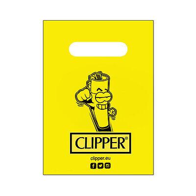 Sportivo ★10 Buste Regalo Gadget Clipper Clipperman 21 X 15 Cm Con Maniglia In Plastica★ Giada Bianca