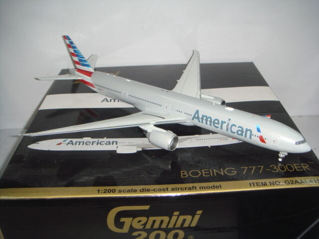 Gemini Jets 200 American Airlines AA B777-300ER 2010s Nuevo Color  1 200 Diecast