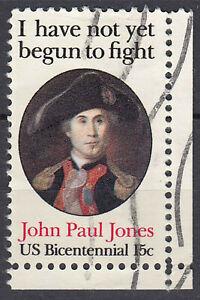 Estados-unidos-sello-con-sello-15c-John-Paul-Jones-us-Bicentennial-eckrand-1142