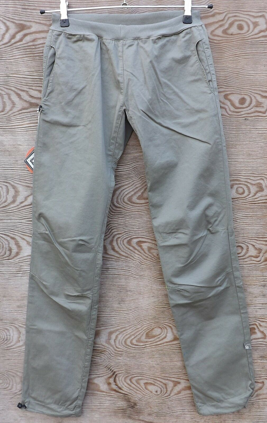 E9 Rapa - Ligero Pantalones Mujer, gris Cálido, Pantalones para Escalar
