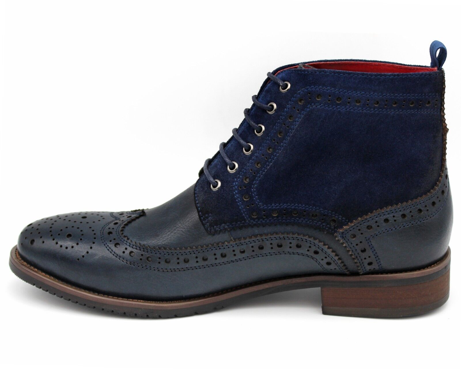 S52M UK 10 MENS NAVY blueE COMBAT BOOT LEATHER LEATHER LEATHER ANKLE MILITARY LACE UP BROGUE 44 1eae0c