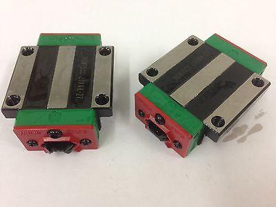 USED x2pcs HIWIN Linear Carriage for 20mm Rail HGW20CC CNC XYZ Axis