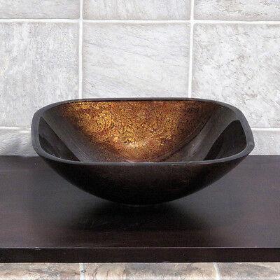 Bathroom Glass Vessel Sink Artistic Round ***Free Pop Up Drain*** 9052