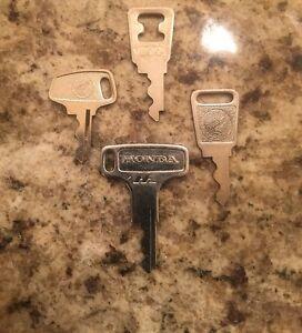Vintage Honda OEM Factory Pre Cut Motorcycle Key # H1302