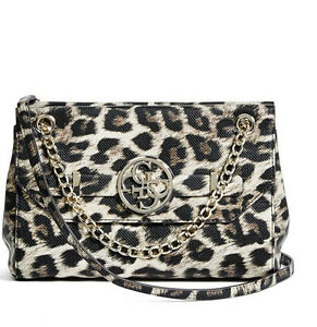 Image Is Loading Nwt Guess Katlin Flap Crossbody Handbag Chain Strap