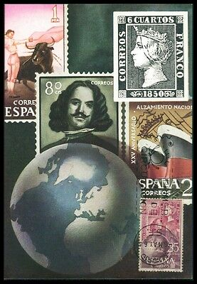 Streng Spain Mk 1964 Tag Der Marke Stamp On Stamp Carte Maximum Card Mc Cm Az89 Diverse Philatelie Post & Kommunikation