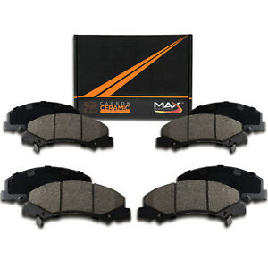Front-Rear-Max-Performance-Ceramic-Brake-Pads-2009-2016-Fit-Toyota-Venza