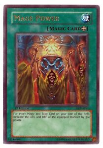 Mage-Power-LON-050-1st-Edition-Ultra-Rare-Holo-Yugioh-Card-GREAT-CONDITION