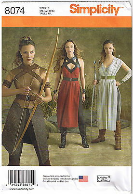 Rey Star Wars Cosplay Costume Warrior Simplicity Sewing Pattern 6 8 10 12 14