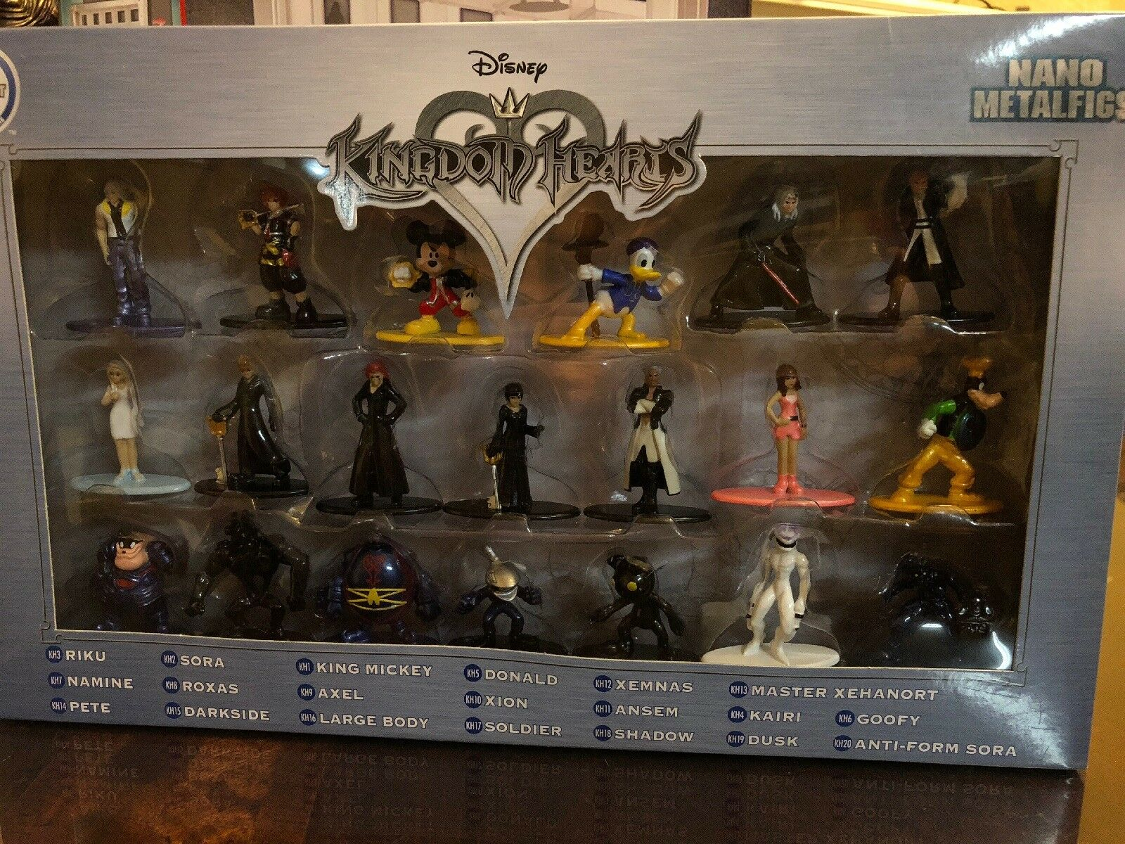 NIB Kingdom Hearts Nano Metalfigs 20 Figures Free Shipping