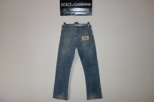 In Dg Faded It 44 Black Italy Label Runway Dolce amp;gabbana Made Logo Jeans pHfp4