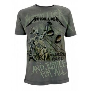 Metallica-039-And-Justice-For-All-Neon-039-All-Over-Print-T-shirt-NEW