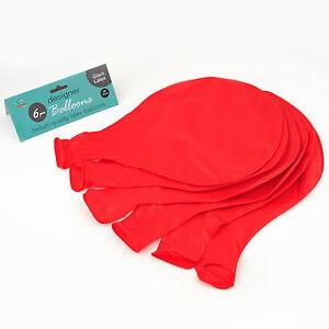 Rojo-36-034-grande-gigante-Oval-Latex-Globo-De-Boda-Fiesta-Decoracion-Grande-Paquete-de-6