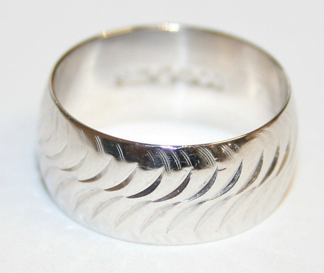VINTAGE 18 KT oro BIANCO DONNA DONNA DONNA ampio taglio diamante anello nuziale taglia L 6c17e5