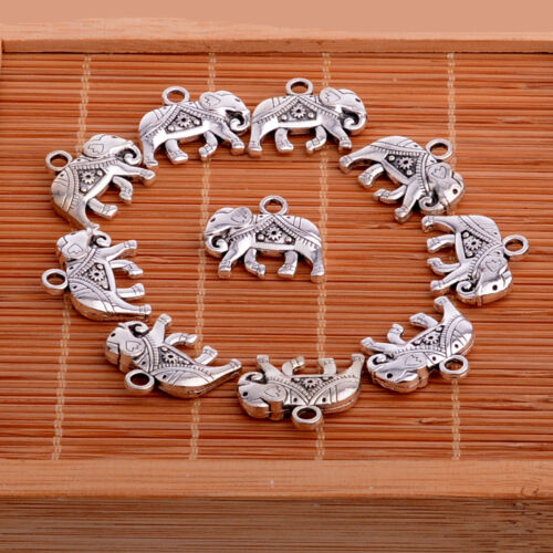 10X Charms Moon Heart Angel Wings Pendants For Necklace Bracelet Making Crafts