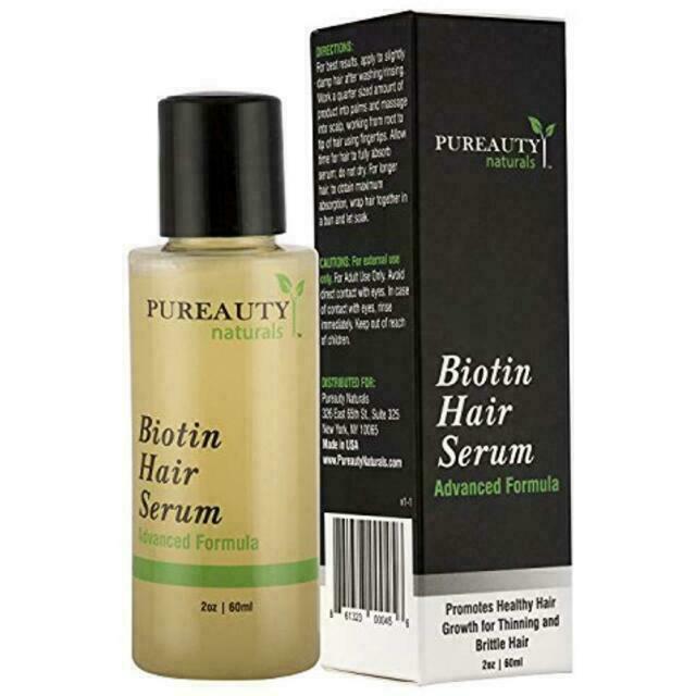 Pureauty Naturals Biotin Hair Growth Serum 2oz For Sale Online Ebay