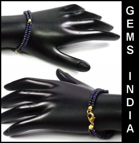 """Ct Top Quality Two Line Natural Blue Sapphire Bracelet 7.5/"""" Inches Long 57"""