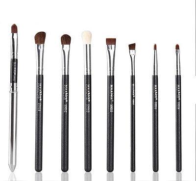 8PCS Professional Cosmetic Eyeshadow Blending Pencil Eye Brushes Set Makeup Tool