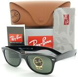 NEW Rayban New Wayfarer sunglasses RB2132 901 52mm Black G15 Grey 2132 AUTHENTIC