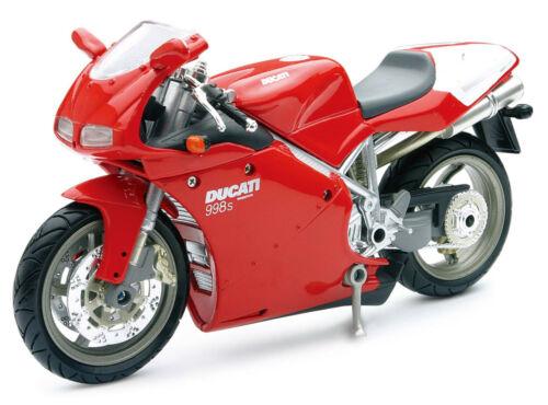 Ducati 998 S rot Maßstab 1:12 Motorrad Modell von NewRay