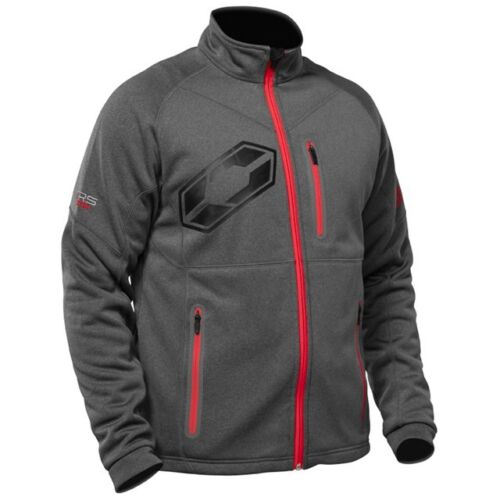Castle X Men/'s Fusion Gray//Red Midlayer Jacket 78-101X