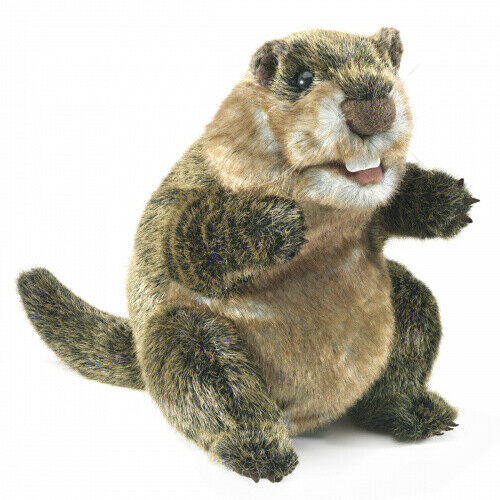 Groundhog Folkmanis Puppets Play Pretend Fun Animal Puppets
