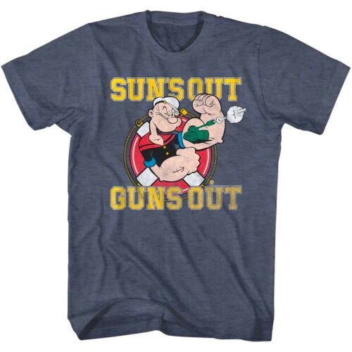 Popeye The Sailorman Suns Out Guns Out Tank Muscles Men/'s T Shirt Cartoon Comic