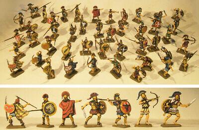 Avere Una Mente Inquisitrice Greek Infantry (hoplites) Zvezda - Greci Opliti 45 Soldatini Dipinti 1:72 Luminoso E Traslucido Nell'Apparenza