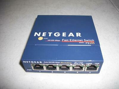 Netgear FS105 v2 ProSafe 5-port Fast Ethernet Network Switch
