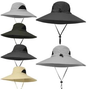 Image is loading Waterproof-Sun-Hat-Outdoor-UV-Protection-Bucket-Mesh- 31de9d1c76e