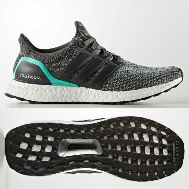 ce09ee37704 adidas Ultra Boost 2.0 Mens Grey Shock Mint Running Shoes AQ5931 UltraBOOST  7-14