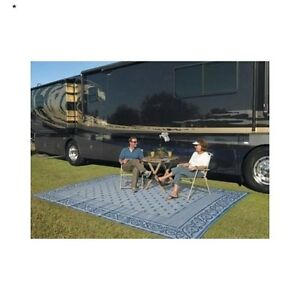 Outdoor Area Rug 9 X 12 Reversible Patio Mat Rv Camping