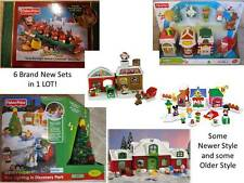 Fisher Price Little People Xmas Twas Tree Light North Pole Village Main Santa