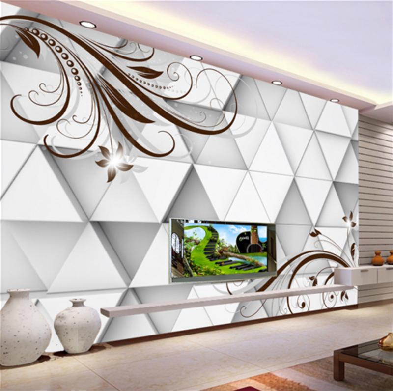3D Foliage Triangular 728 Wallpaper Mural Paper Wall Print Wallpaper Murals UK