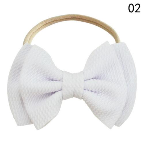Toddler Baby Girls Big Bow Knot Headband Cute Hairband Stretch Turban Head Wrap