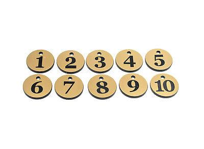 Acquista A Buon Mercato Confezione Portachiavi, Chiave Etichette - Numerati 1 A 10 Oro, Circolare 29mm