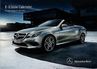 Begeistert Mercedes E-klasse Cabriolet Preisliste 2013 7.3.13 Price List Cennik E 400 250