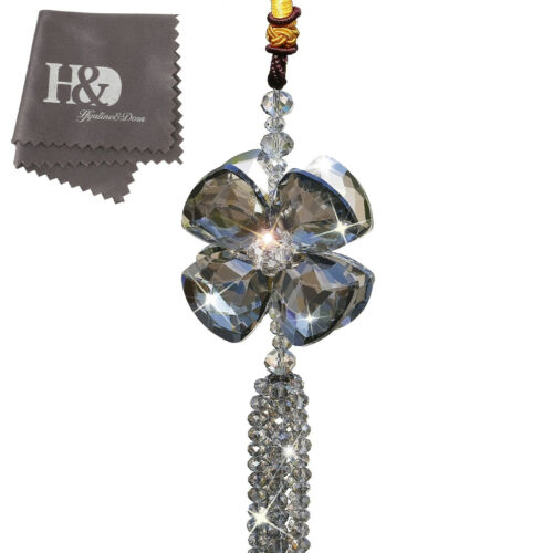 Luxury Crystal Car Pendant Hanging Suncatcher Car Interior Home Decor Lady Gift