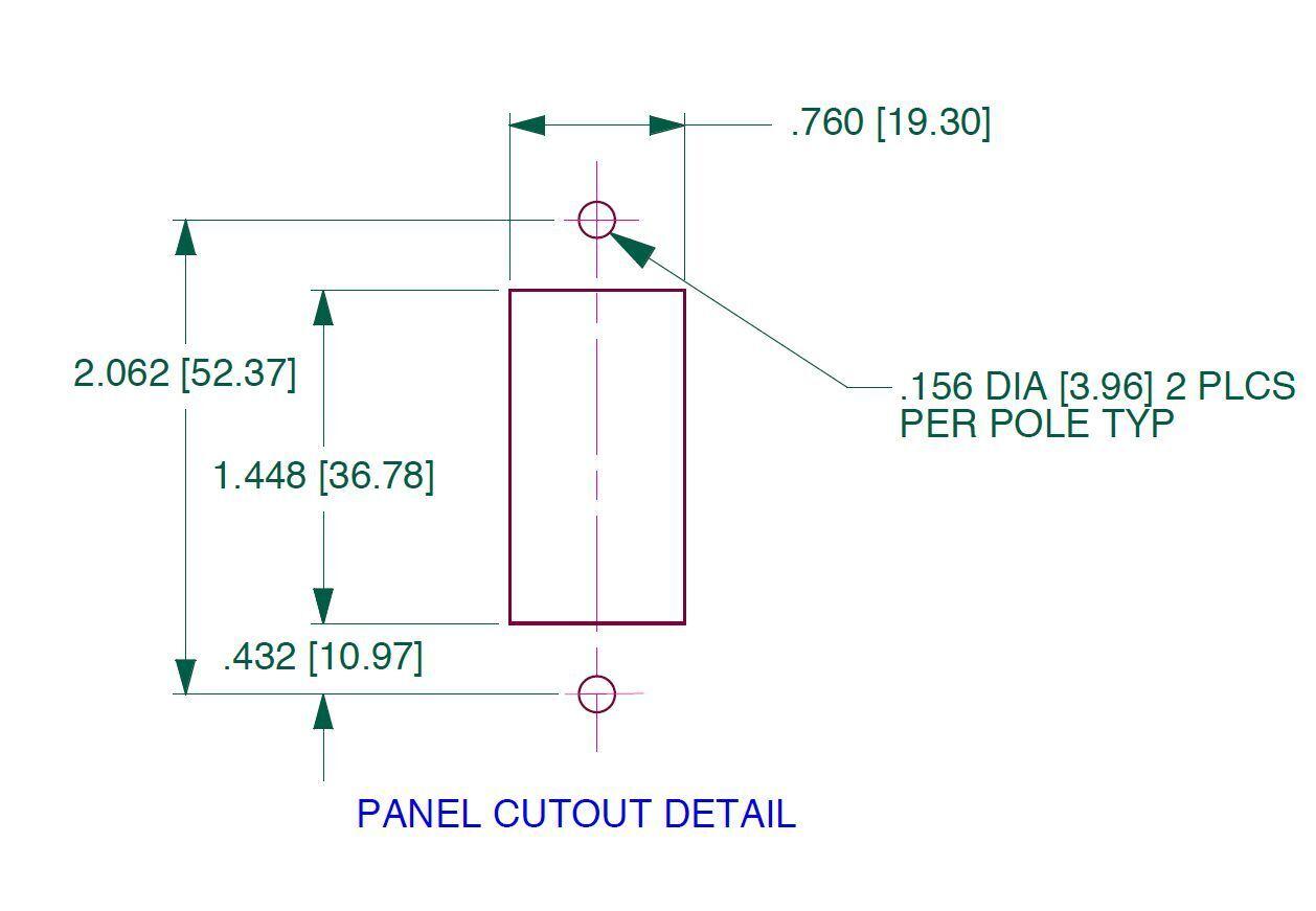 Image 4 - MIDNITE-SOLAR-20-AMP-DC-Panel-Mount-Circuit-Breaker-MNEDC-20-FREE-SHIPPING
