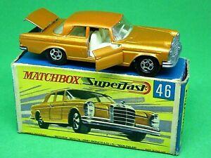 Matchbox-Lesney-No-46c-Mercedes-Benz-300SE-Coupe-en-Caja-G2-raro-apertura-de-puertas