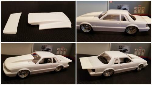 Outlaw Hood Combo for /'90 Mustang LX 5.0 Revell 1//25. Resin Rear Spoiler /& Ext