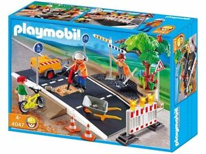 BNIB-Playmobil-Toy-Road-Construction-Set-4047