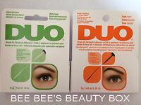 Duo Eyelash Lash Glue Adhesive. Brush On & Latex Free.  Clear or Dark. **NEW**