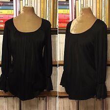 SPORTMAX by MAX MARA black silk jersey gypsy top blouse shirt M UK 12-14 US 8-10