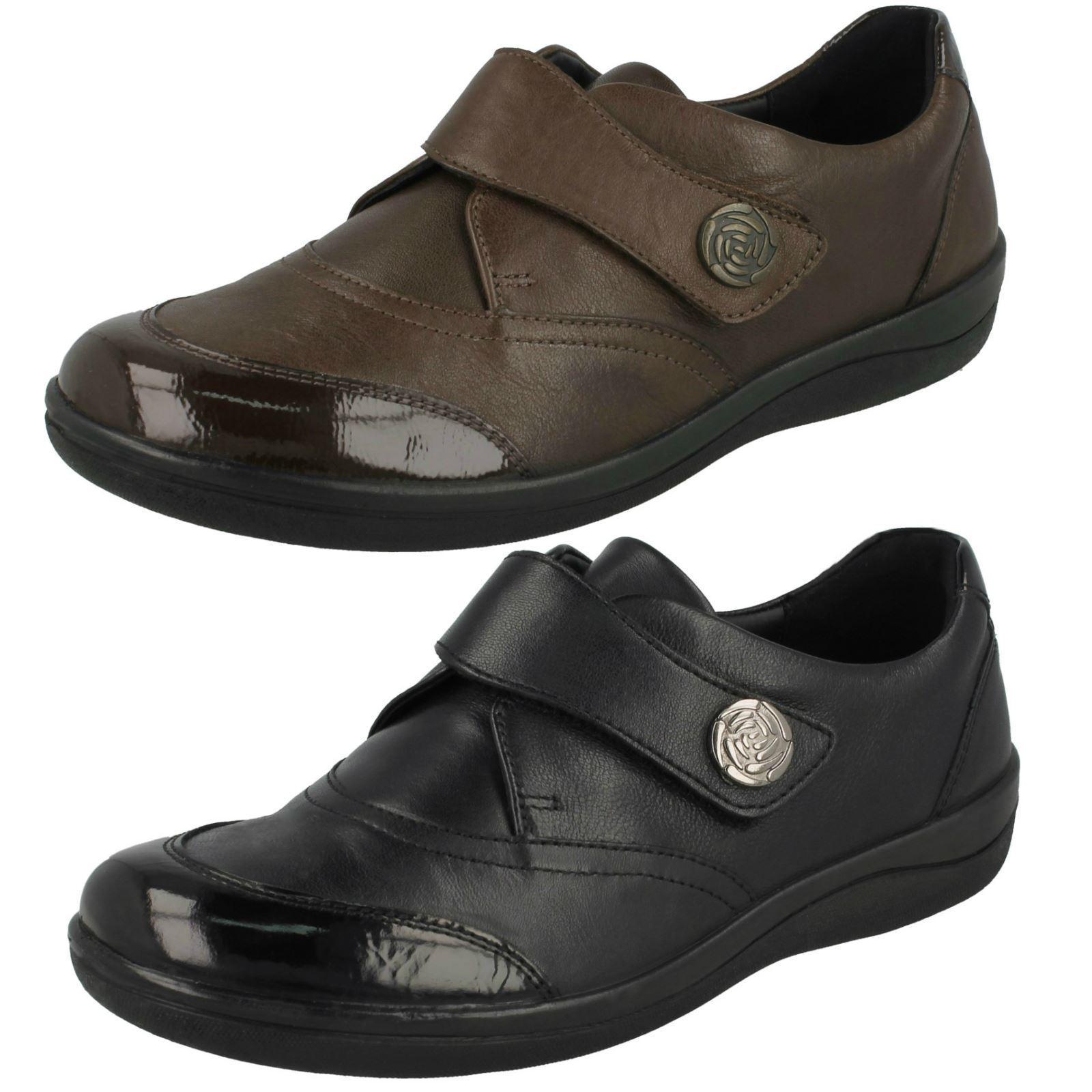 Zapatos Zapatos Zapatos De Cuero Damas Padders patente Toe Hook & Loop Plana Casual cotidianos Gaby  tienda de ventas outlet