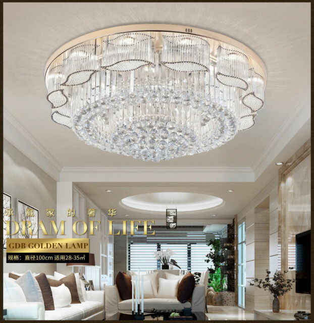 Led Crystal Ceiling Light Receseed